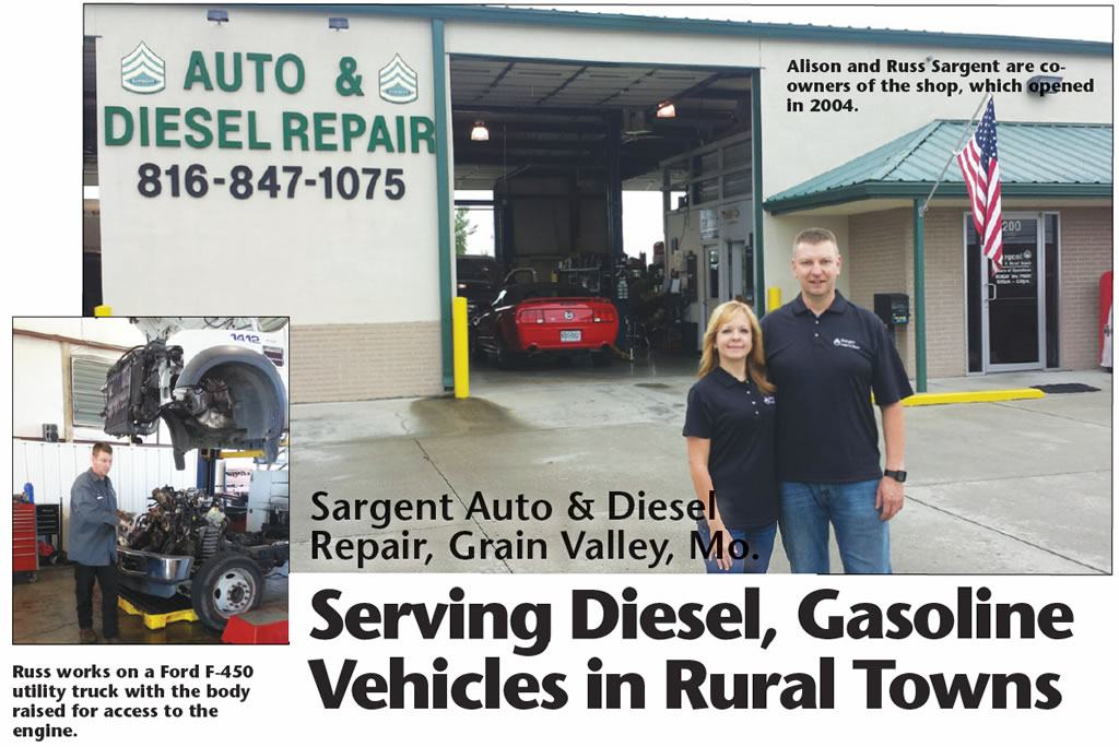 Sargent Auto & Diesel Repair, Grain Valley, Mo.